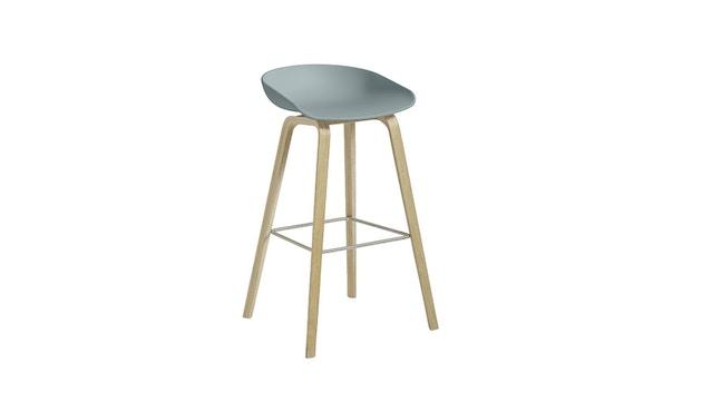 HAY - About A Stool AAS 32 - Hauteur d'assise 75 cm - repose-pied noir - clair verni - gris-bleu - 5