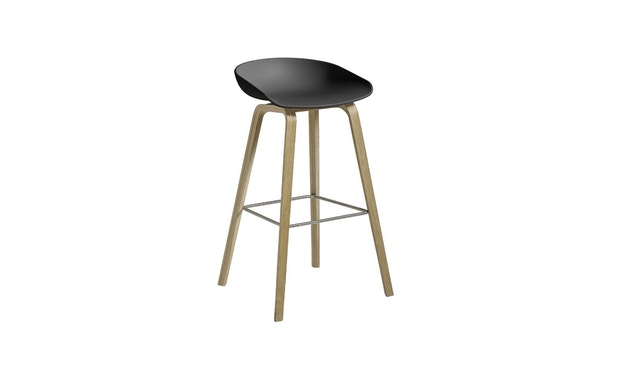 HAY - About a Stool AAS 32 - soft black - Eiche geseift - H 85 cm - 5