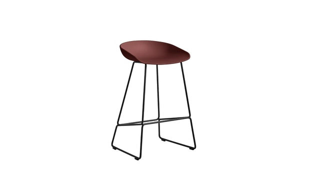 HAY - About a Stool AAS38 - brick - Gestell schwarz - H76 cm - 1