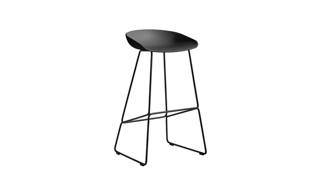 HAY - About a Stool AAS38 - soft black - Gestell schwarz - H85 cm - 1