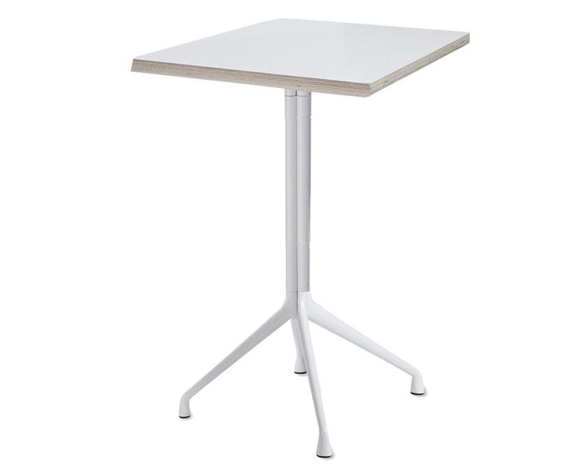 HAY - About A Table AAT15 - Table haute - stratifié blanc, bordure contreplaqué - 1