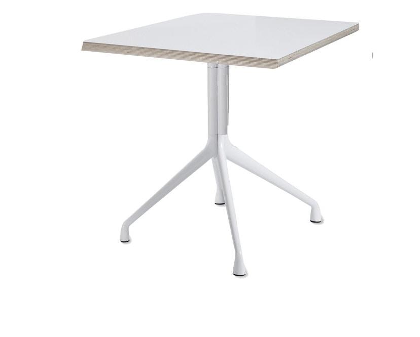 HAY - About A Table AAT15 - stratifié blanc, bordure contreplaqué - 3