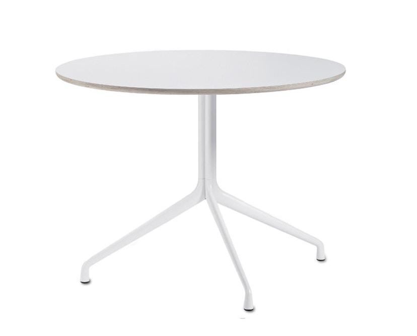 HAY - About A Table AAT 20 - Onderstel met drie poten - Laminaat wit, rand multiplex - Ø 80 cm - 4