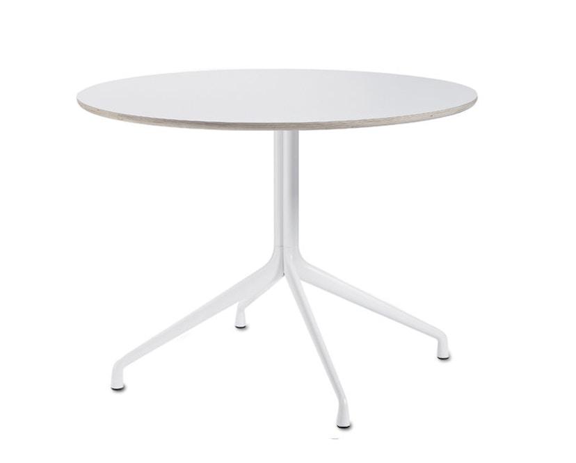 HAY - About A Table AAT20 Quatre pieds - L Ø 100 cm - stratifié blanc, bordure contreplaqué - 3