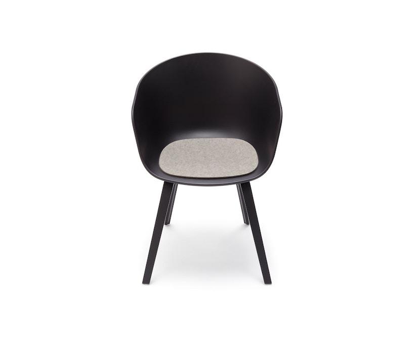 Hey-Sign - Sitzauflage AAC About A Chair - 30 maigrün mit Antirutsch - 07 lichtgrijs mêleerd  - 2