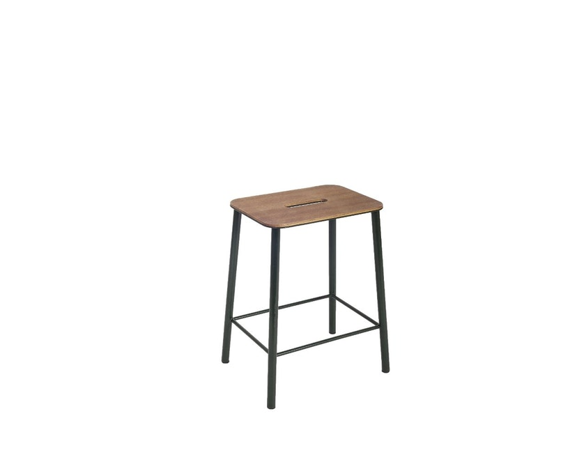 Frama - Adam kruk - 50 cm - zwart - Eikenhout - 2