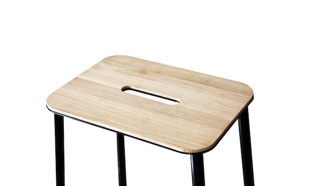 Frama - Adam kruk - 50 cm - zwart - Eikenhout - 3