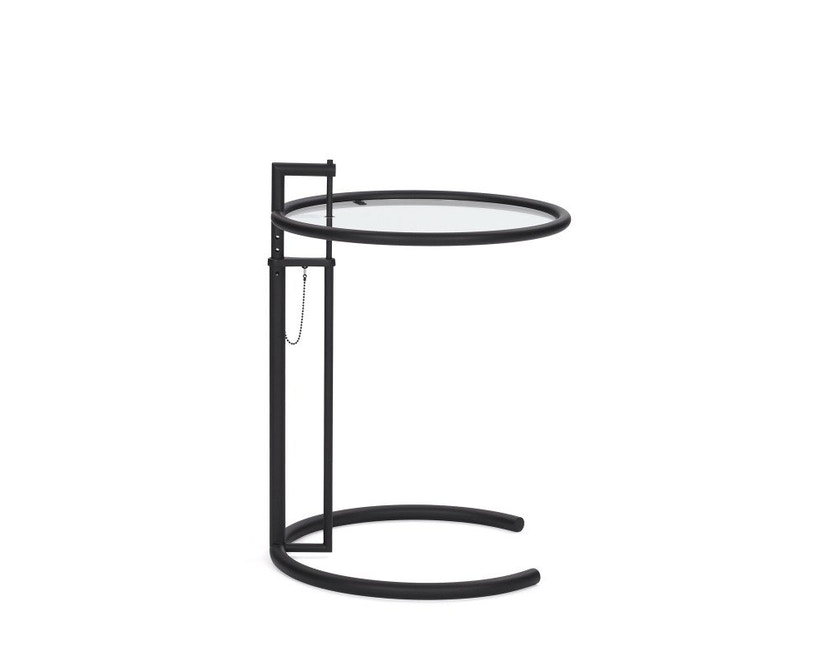 Classicon - Adjustable Table E 1027 Black Version - Kristallglas klar - 1