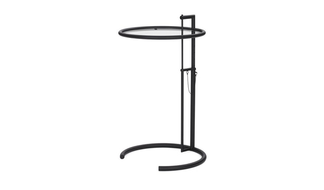 Classicon - Adjustable Table E 1027 Black Version - Kristallglas klar - 2