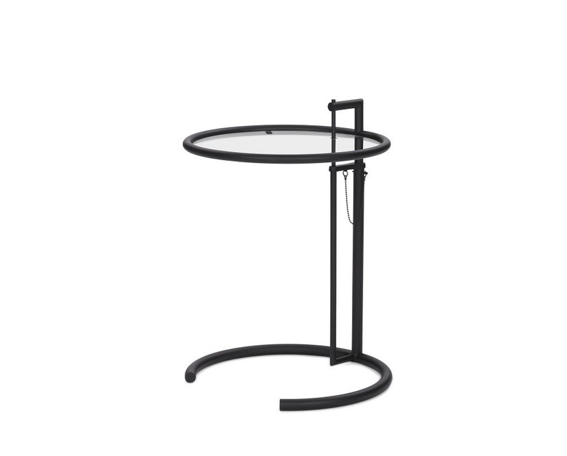 Classicon - Adjustable Table E 1027 Black Version - Parsolglas grau - 1