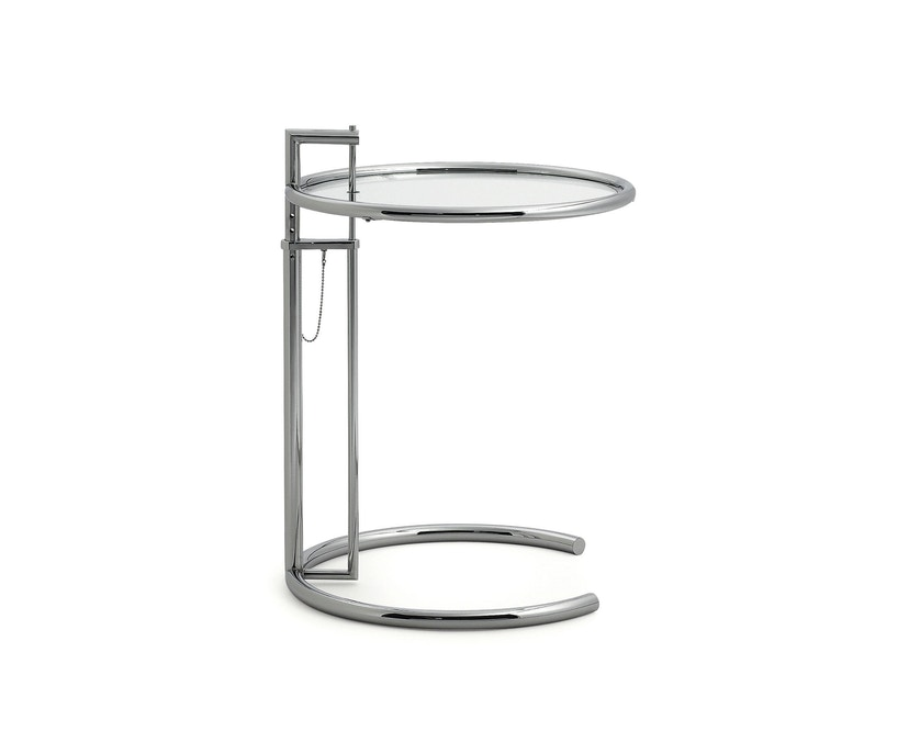 Classicon - Adjustable Table E 1027 - Chrom - Kristallglas klar - 2