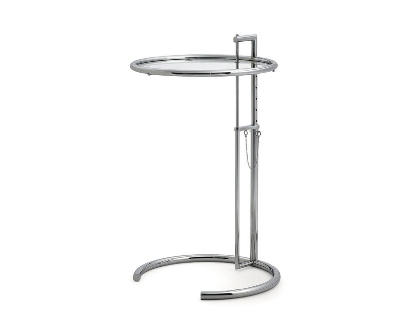 Classicon - Adjustable Table E 1027 - Chrom - Kristallglas klar - 1