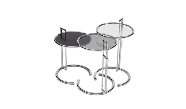 Classicon - Adjustable Table E 1027 - Chrom - Kristallglas klar - 0