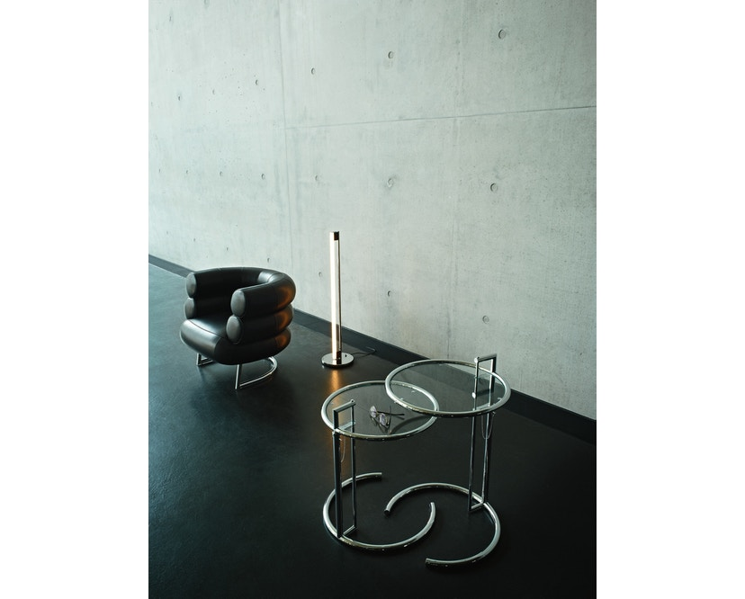 Classicon - Adjustable Table E 1027 - noir - Verre en cristal clair - 8