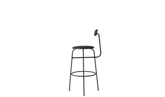 Menu - Afteroom Bar Chair - Leder  - schwarz - 3