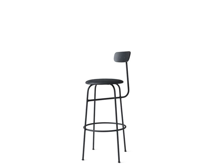 Menu - Afteroom Bar Chair - Leder  - schwarz - 4