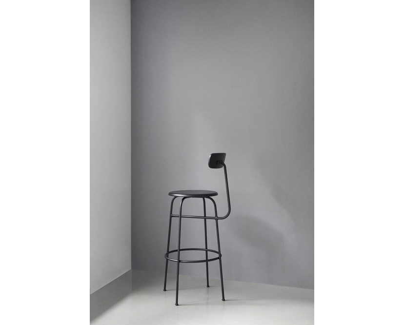 Menu - Afteroom Bar Chair - Leder  - schwarz - 5