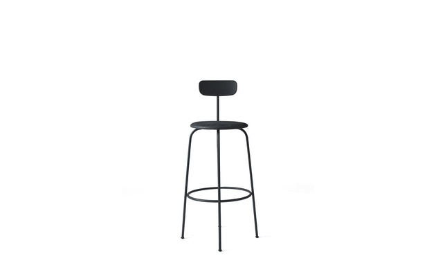 Menu - Afteroom Bar Chair - Leder  - schwarz - 1