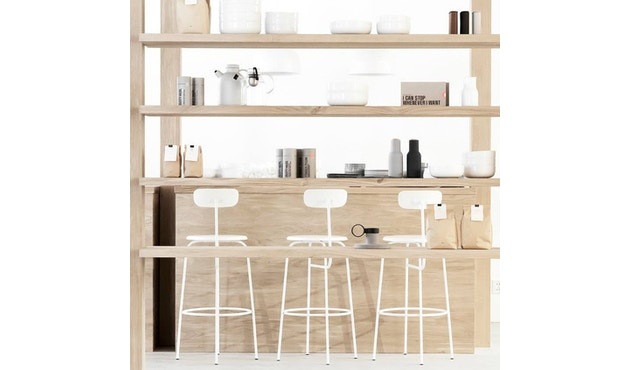 Menu - Afteroom Counter Chair - schwarz - 3