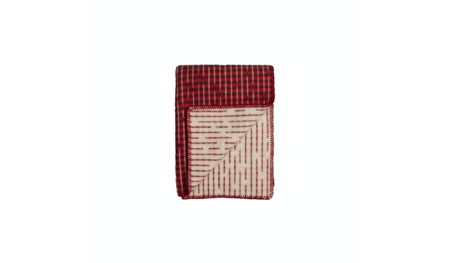 Roros Tweed - Agnes Decke - red-blue - 1