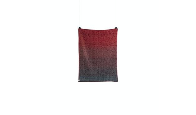 Roros Tweed - Agnes Decke - red-blue - 2