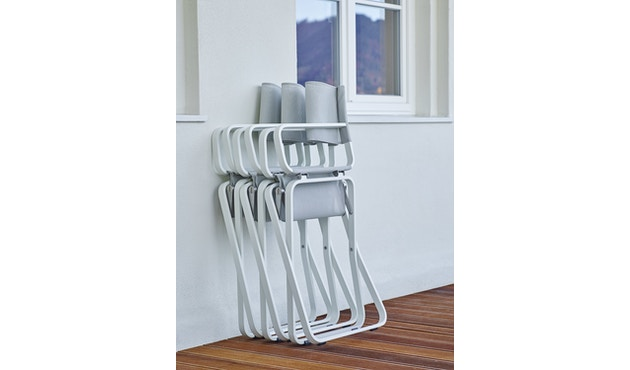 Weishäupl - Ahoi fauteuil - lichtgrijs - Alu/wit - 5