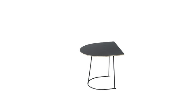 Muuto - Table Airy Coffee  - noir - demi taille - 1