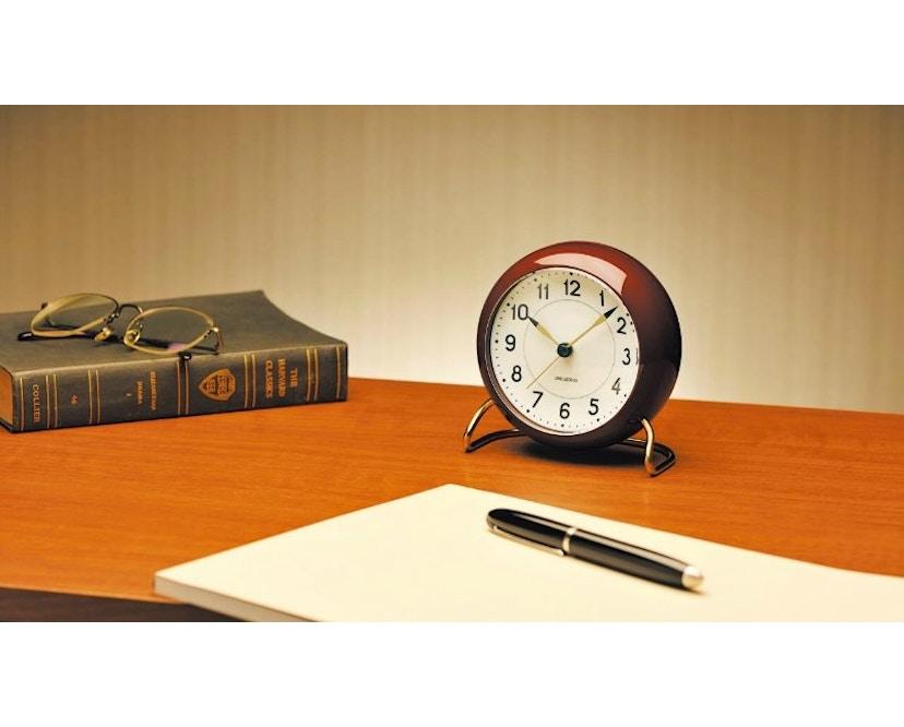 Rosendahl - AJ Table Clock Station - bordeauxrood - 4