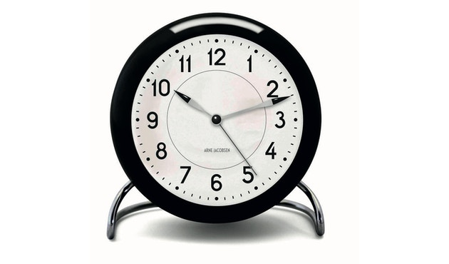 Rosendahl - AJ Table Clock Station - zwart - 1