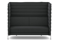 Vitra - Alcove Highback 2-Sitzer Sofa - Laser dunkelgrau