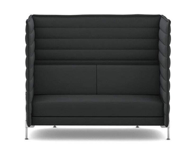 Vitra - Alcove Highback 2-Sitzer Sofa - Laser dunkelgrau - 1