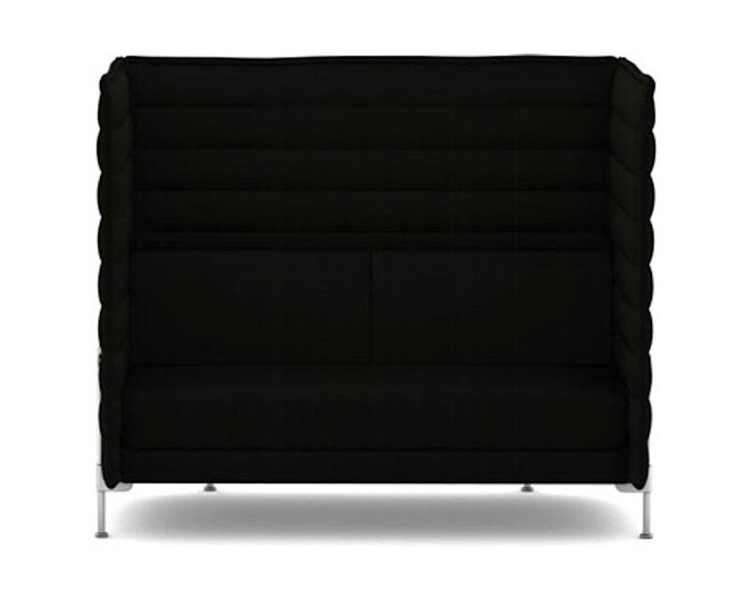 Vitra - Alcove Highback 2-Sitzer Sofa - Laser schwarz - 1