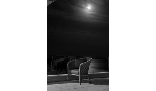 Alexander Rose - Cordial Stuhl, Lehne gerundet - beige - Bezug/Oatmeal - 4
