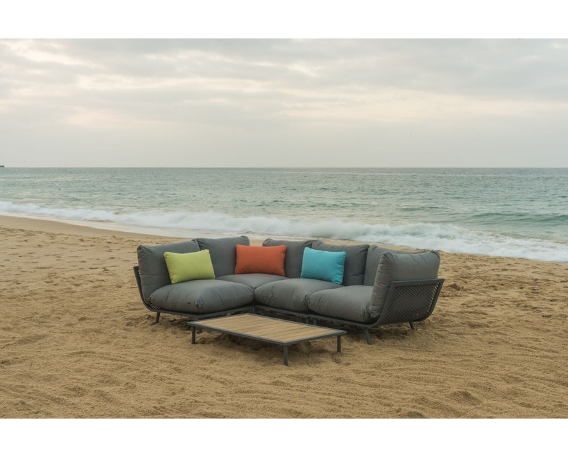 Alexander Rose - Beach Lounge Eckelement - grau - Flint - 5