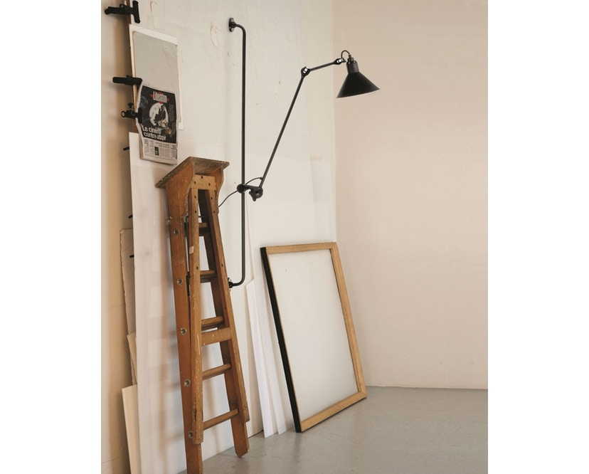 DCW éditions - LAMPE GRAS N°214 Wandleuchte - schwarz - rund - 5