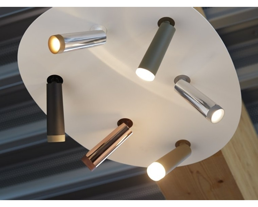 Tobias Grau - Clear Spot Up Round - aluminium/ glow - 2