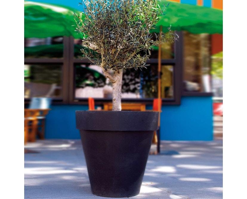 Amei - Der mit dem Rand Pflanzentopf - grau - L - 2