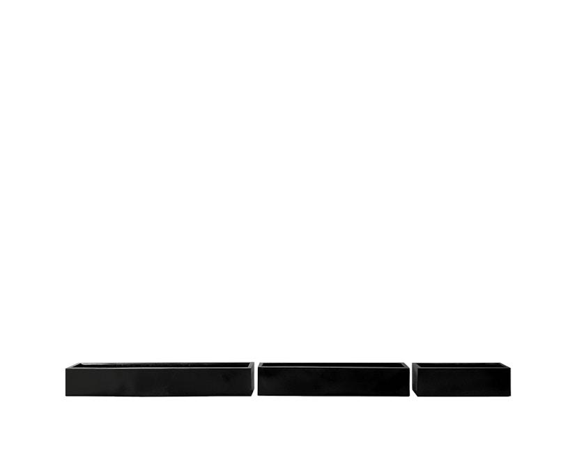 Amei - Der Lange Pflanzentopf - schwarz - M - 2