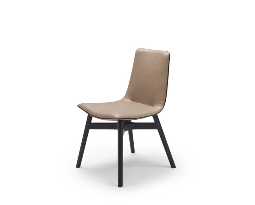 FREIFRAU - Amelie Stuhl Holzgestell - Leder Sahara Safran - 1