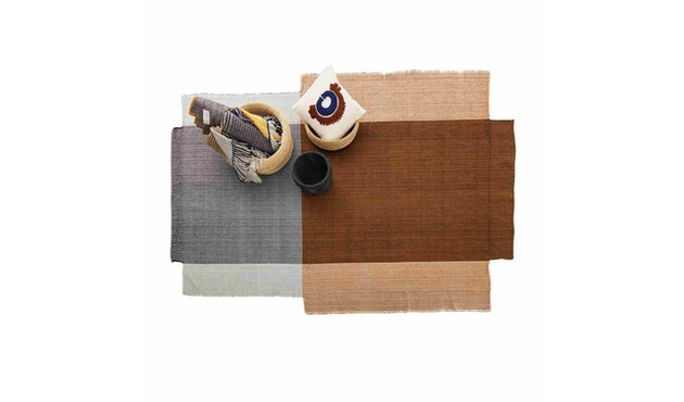 Ames - Nobsa Teppich mittelgroß - grau/ocker/creme - 2