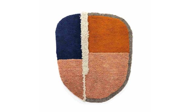 Ames - Nudo Teppich - blau/orange/ocker - 1
