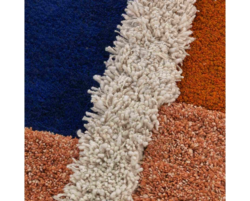 Ames - Nudo Teppich - blau/orange/ocker - 3