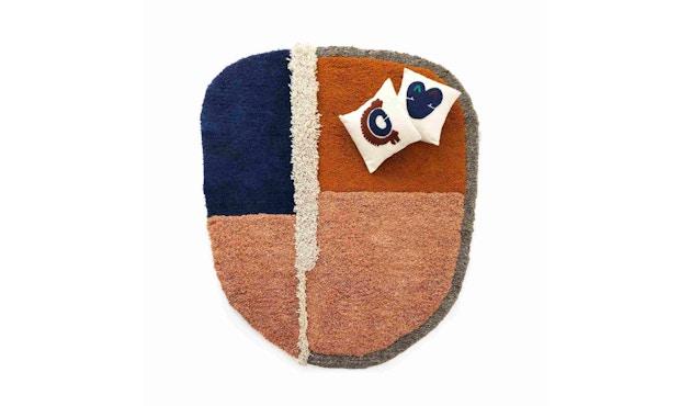 Ames - Nudo Teppich - blau/orange/ocker - 2