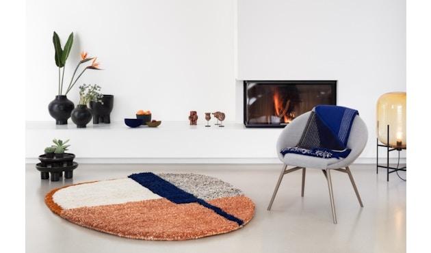 Ames - Nudo Teppich - blau/orange/ocker - 4