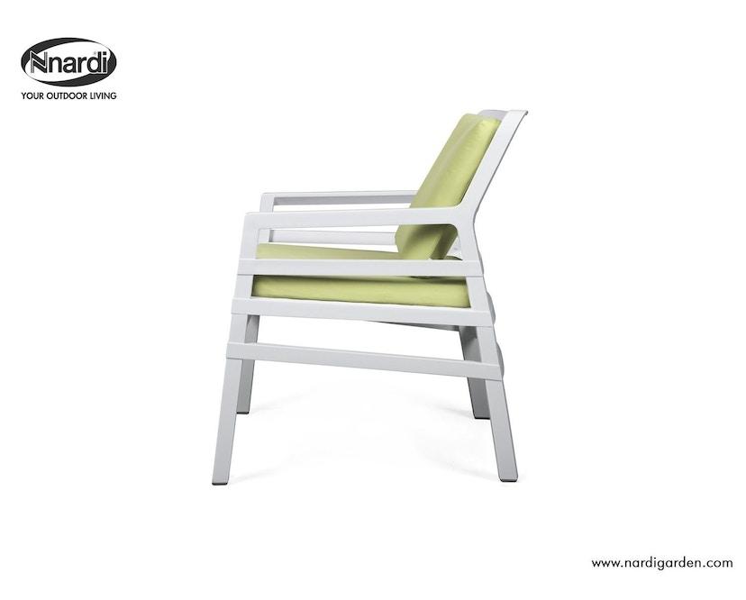Nardi - Aria Outdoor Lounge Stuhl - weiß/limette - 2
