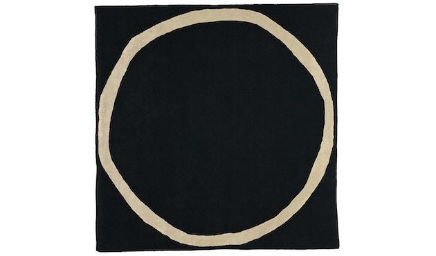 Nanimarquina - Aros square Teppich - schwarz - 200 x 200 cm - 1
