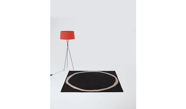 Nanimarquina - Aros square Teppich - schwarz - 200 x 200 cm - 2