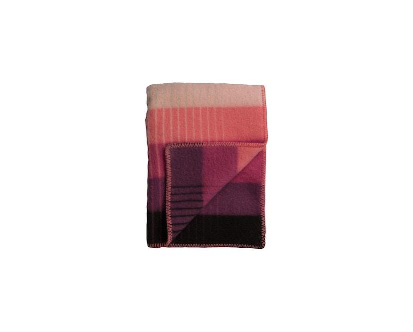 Roros Tweed - Asmund Gradient Decke - pink-green - 1