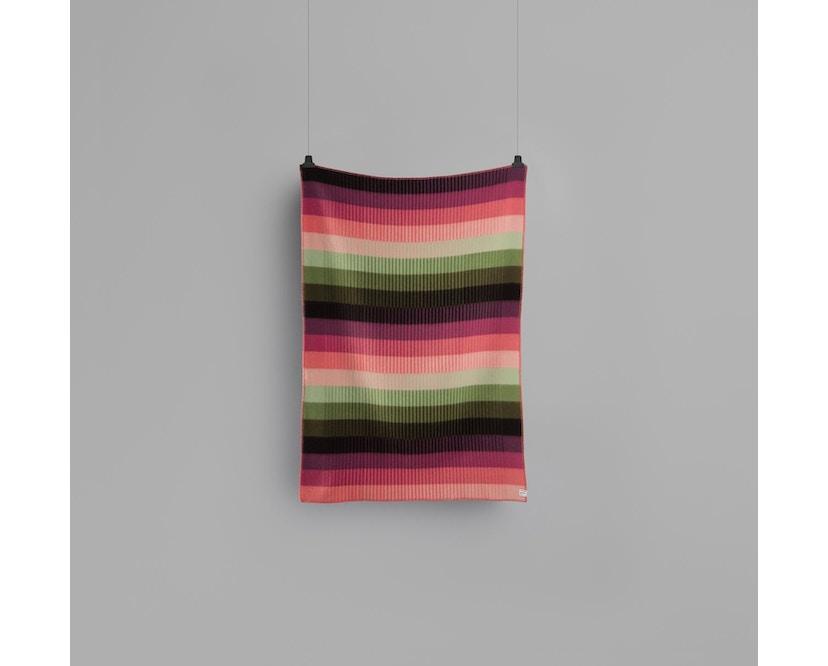 Roros Tweed - Asmund Gradient Decke - pink-green - 2