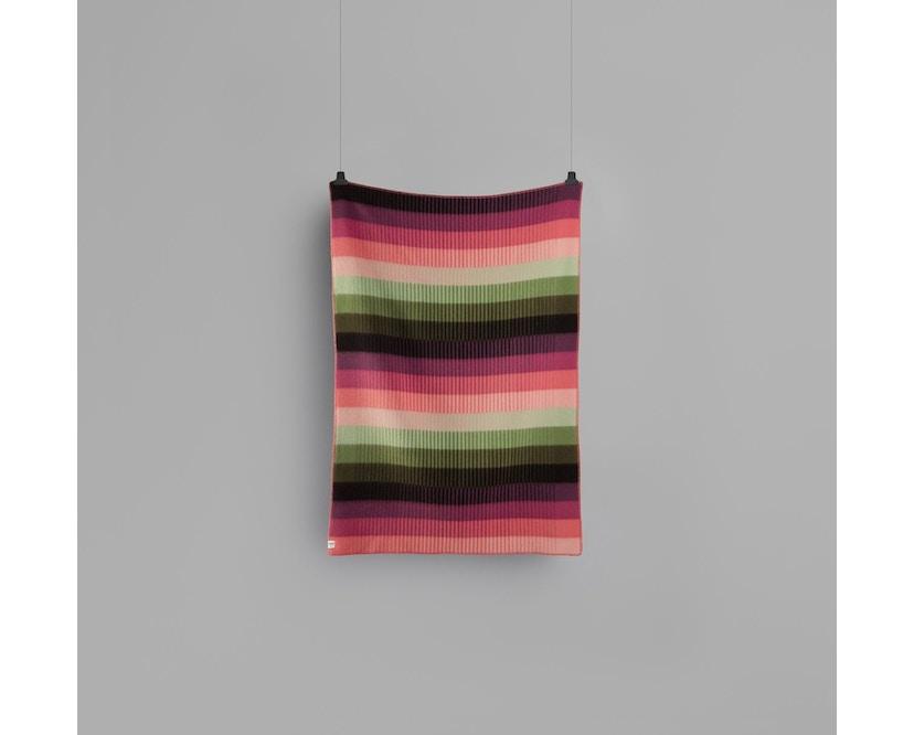 Roros Tweed - Asmund Gradient Decke - pink-green - 3